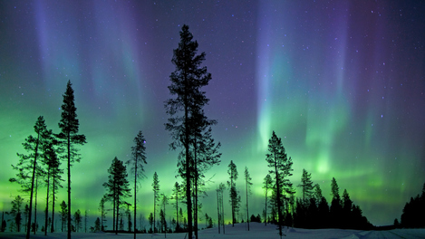 Saia em busca da aurora boreal