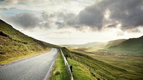 Estrada na Escócia