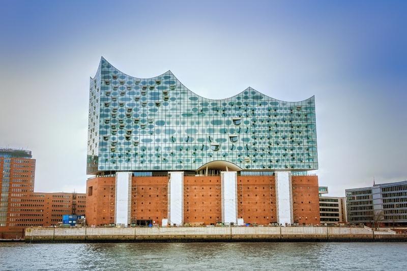 O Elbphilarmonie Concert Hall, na região chique de HafenCity, em Hamburgo.