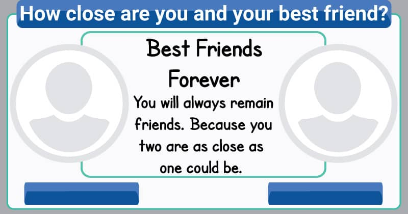 How close are you to your best friend?