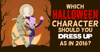 Which Halloween Character should you dress up as in 2016?