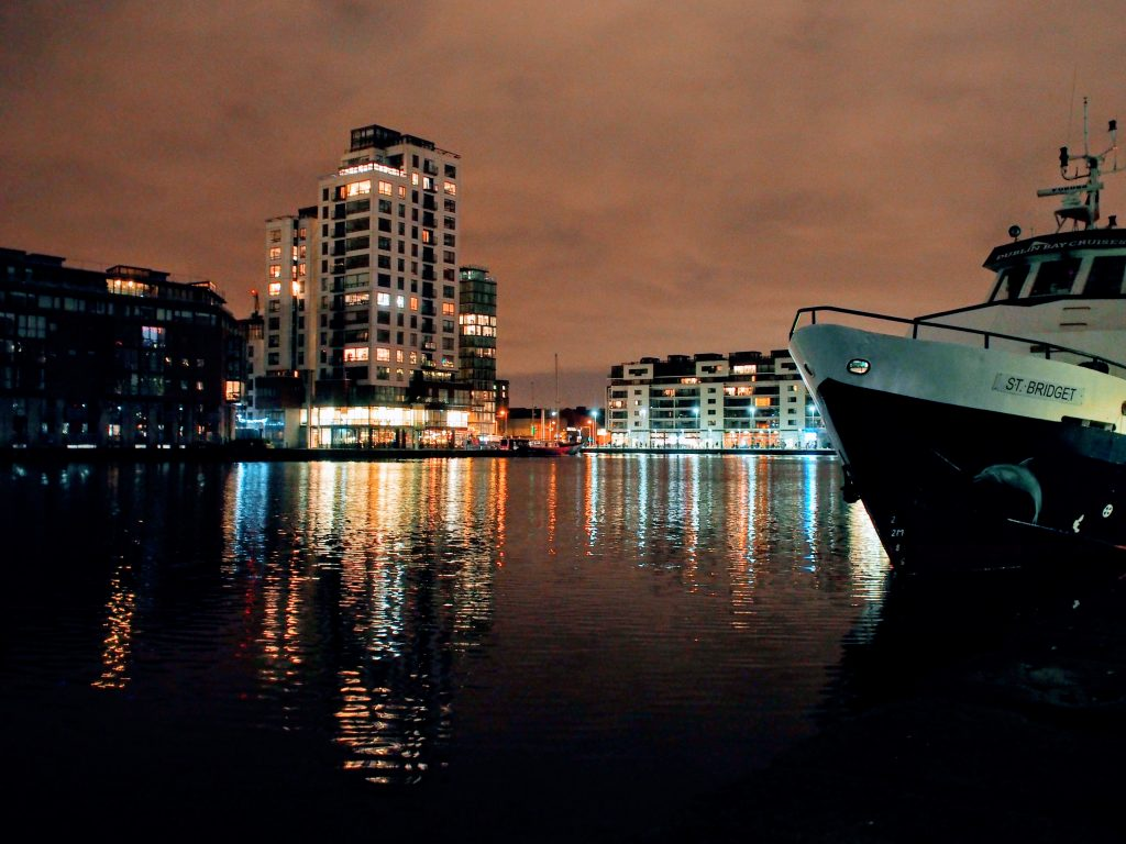 Grand Canal Dock at Night