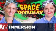 Space Invaders In Real Life – Featuring Barbara and Lindsay