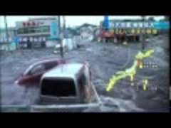 Car Escaping Tsunami
