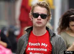 Macaulay Culkin Awesome Button Shirt