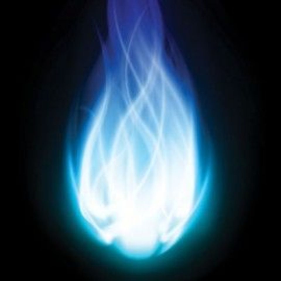 фото синий огонь