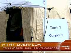 Hospital tents in Austin