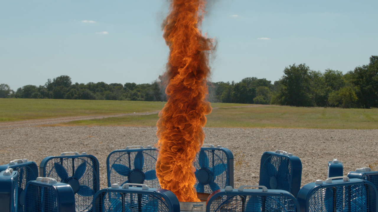Fire Tornado In Slow Motion - This slow motion fire tornado is the coolest thing youll see all day