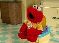 Elmo Bathroom Gif
