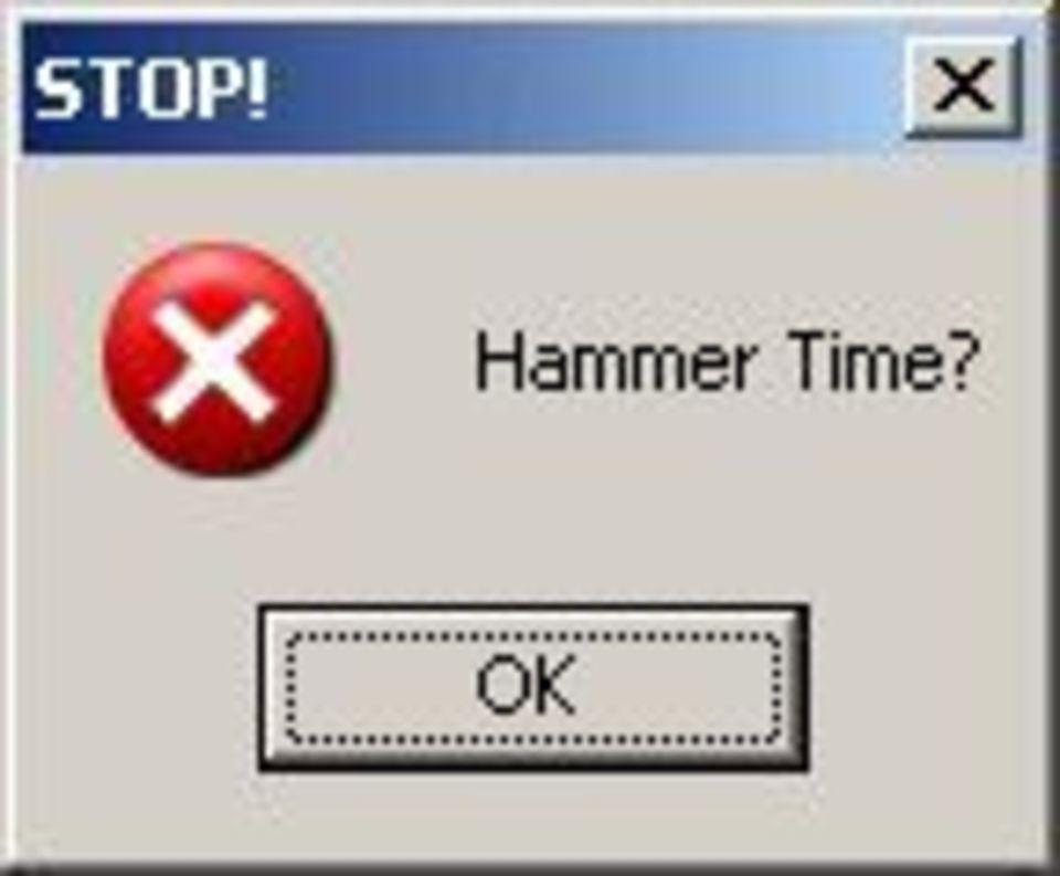 Stop Hammer Time Windows