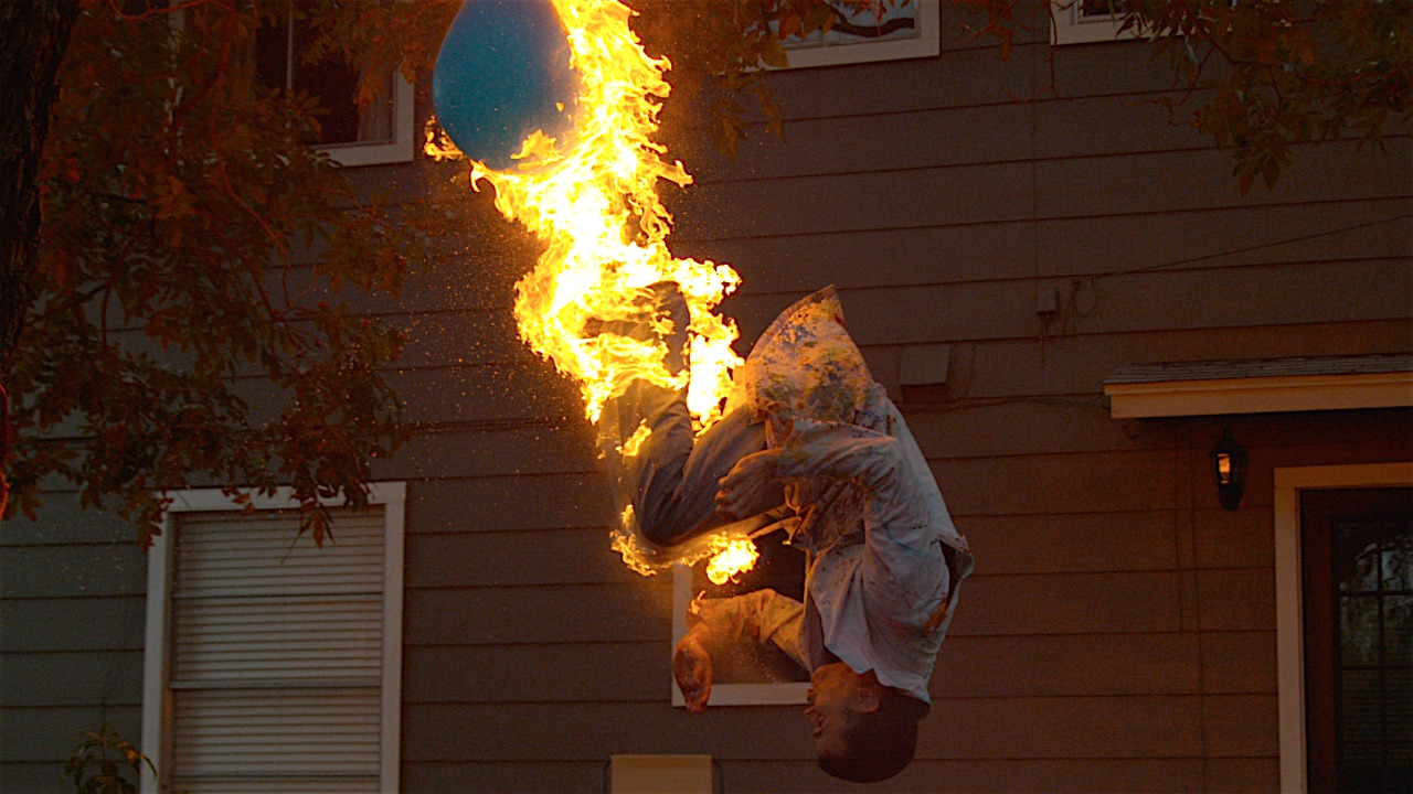 Firebreathing Backflip With SteveO - This slow motion fire tornado is the coolest thing youll see all day