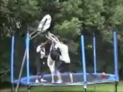 Trampoline Basketball Fail