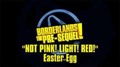 Borderlands The Pre-Sequel - Not Pink, Light Red! Easter Egg