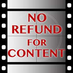 No Refund For Content
