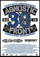 Agnostic Front/Death by Stereo/Naysayer 2012 Euro tour page