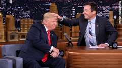 Jimmy Fallon Messes Up Trump's Hair