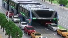 Chinese Raised Bus Collects Dust
