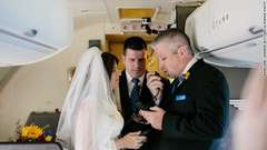 Couple Gets Married on Plane