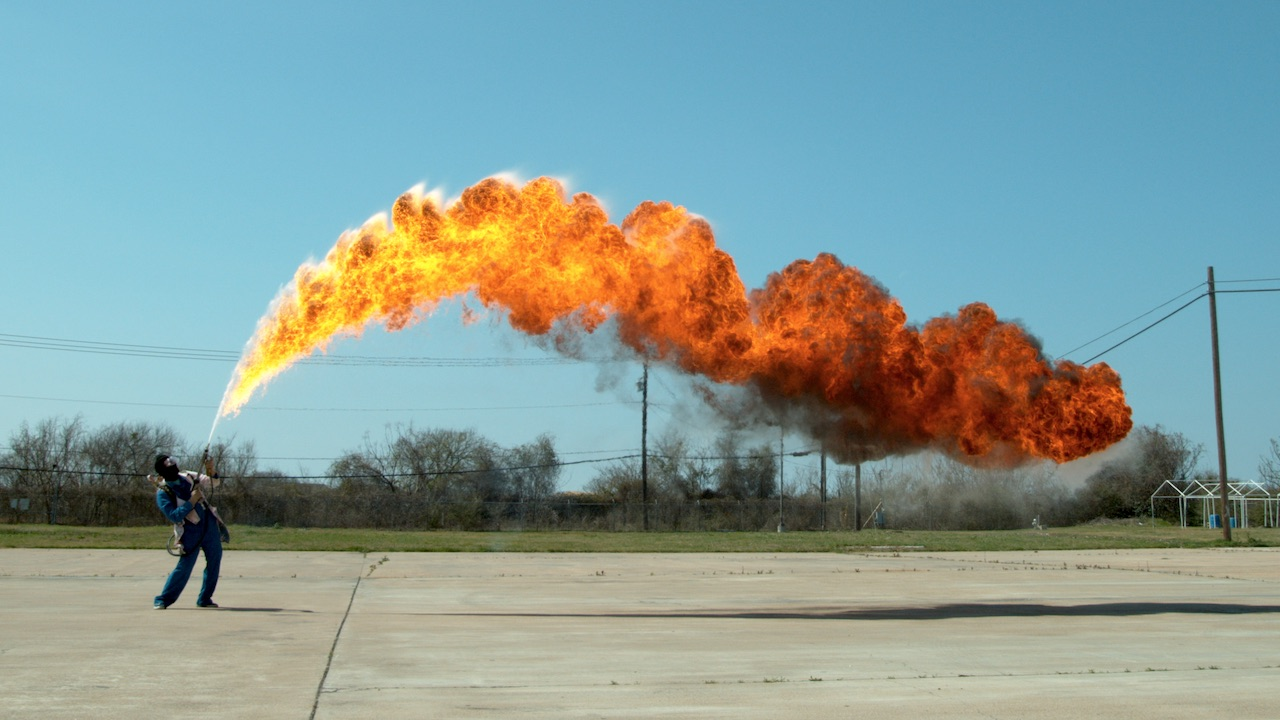 Ft Flamethrower - This slow motion fire tornado is the coolest thing youll see all day
