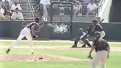 Pitcher Randy Johnson Obliterates Bird