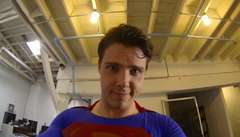 Superman with GoPro