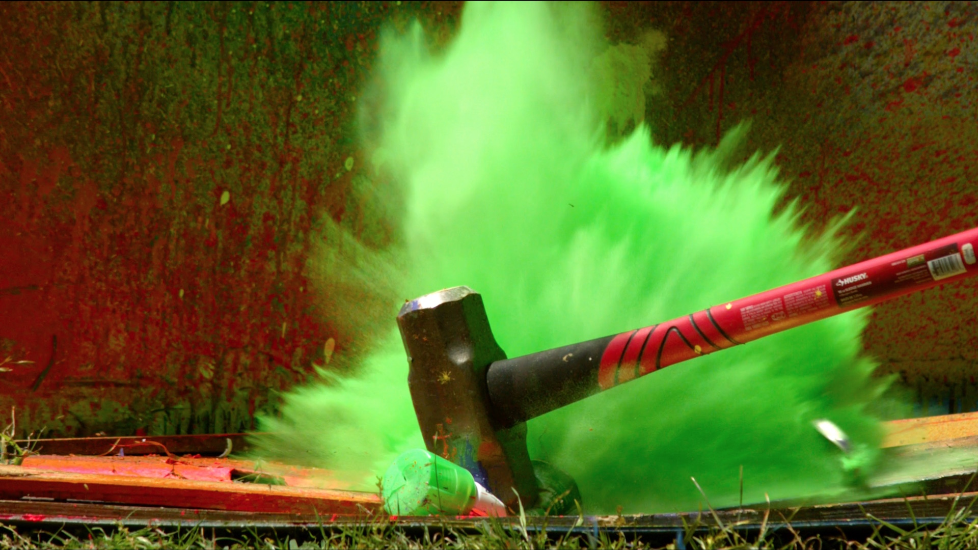 The Slow Mo Guys Season - Putting paint on a drum kit creates an explosive rainbow