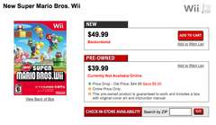 Super Mario Bros sold out