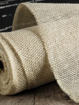 Jute Fabric Roll 14in x 10yds White