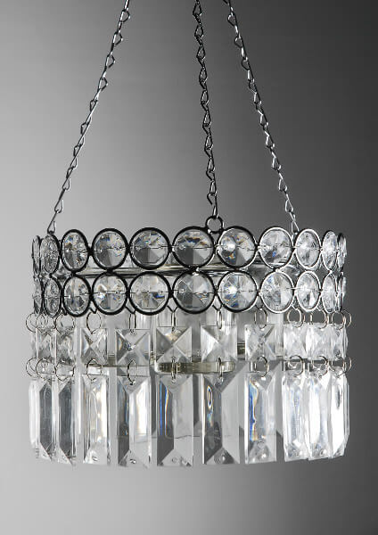 Hanging Crystal Candle Holder 17in