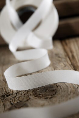 Silk Ribbon White 1/2in x 38yds