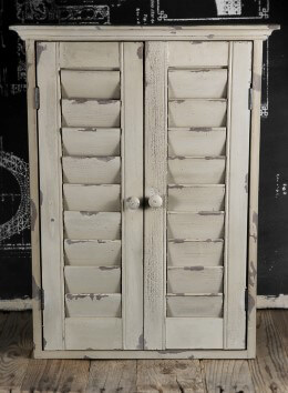 Chalkboard Cabinet with Shutters 24 x 18in
