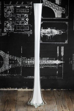 Eiffel Tower Vase 27.5in White