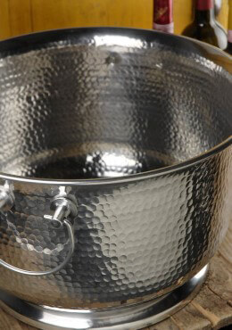 Hammered Metal Beverage Tub 16in