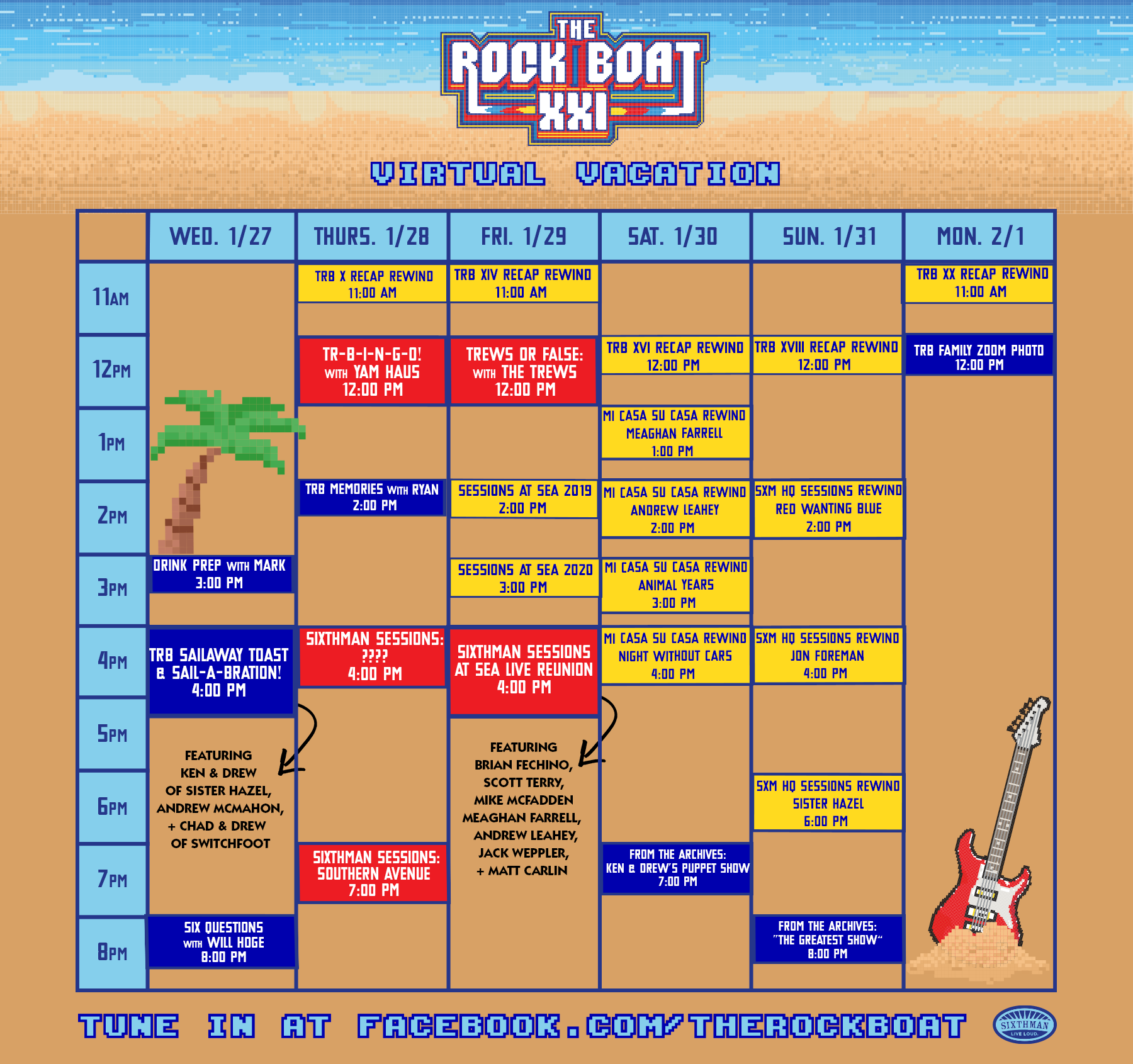 Virtual vacation schedule