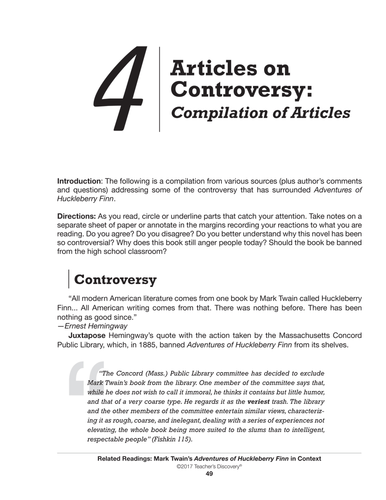Controversial articles