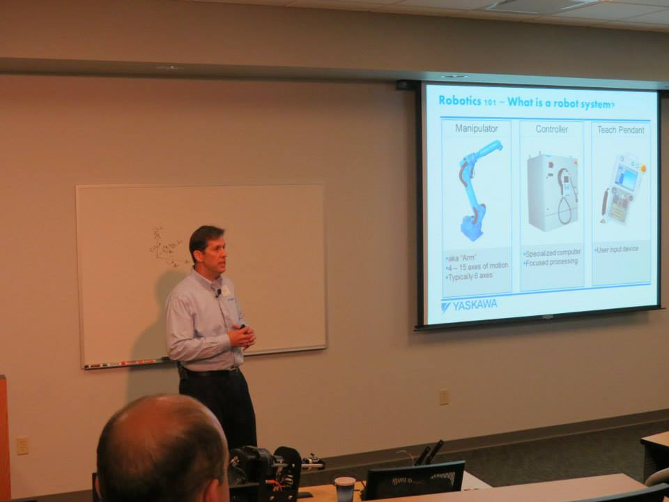 Yaskawa Motoman rep Sam describes robot technology and the different applications where robots are utilized