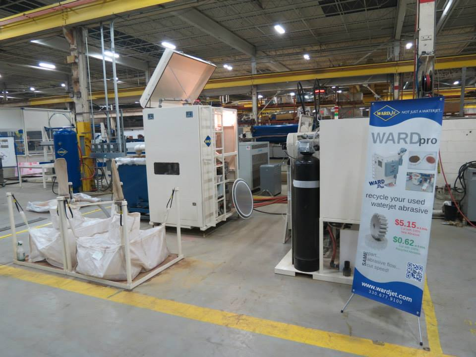 The WARD Pro abrasive recycling system was demonstrated during the open house