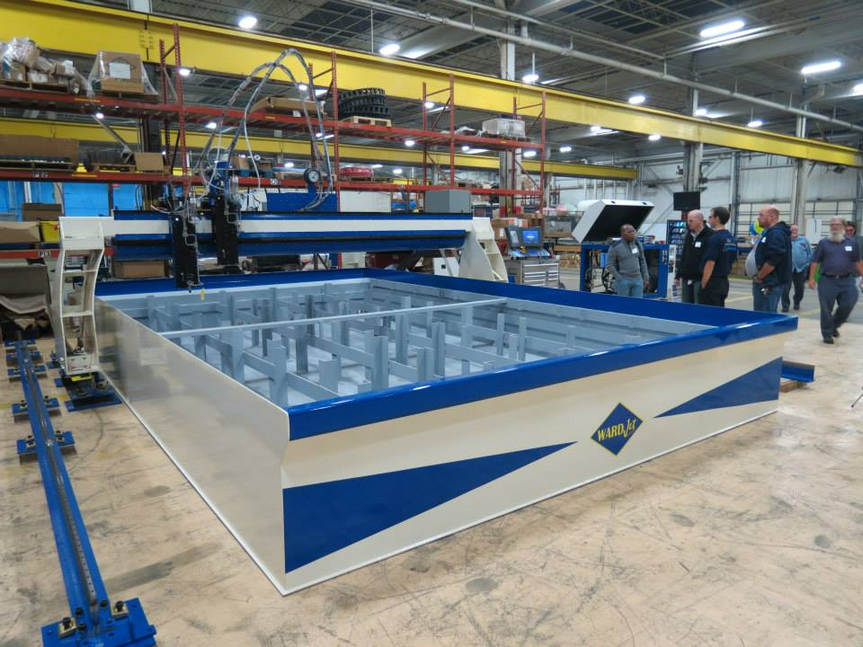 This R-Series large format waterjet on display was being built for a customer who attended our open house