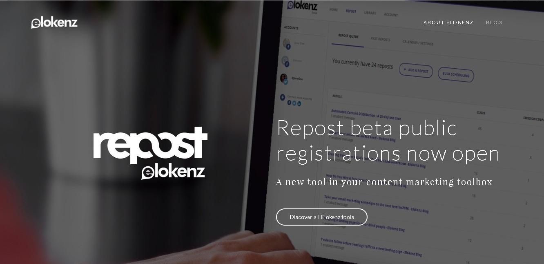 La herramienta de repost de Elokenz permite programar post fácilmente