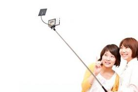 Selfie sticks come with a convenient vanity mirror