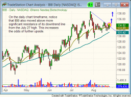 Technical pattern of $IBB - daily