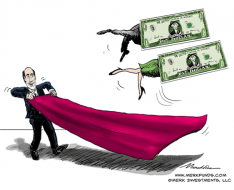 Ben Carpet Sweeps Dollar Cartoon