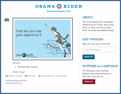 vote like your lady parts depend on it from the barak obama website