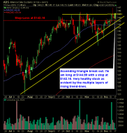 Alliance Data Systems ADS swing trading long setup