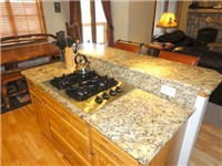 Kitchen Island with Gas Stove