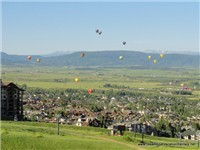 Steamboat's 30th Annual Hot Air Balloon Festival as seen from your Deck!