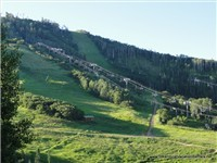 Summertime views of the Ski Mountain - hiking and biking trails right outside your doorstep!