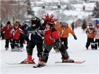 winter Carnival - Steamboat Springs Colorado, kids ski race