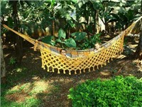 The ultimate relaxation in our garden's hammock!