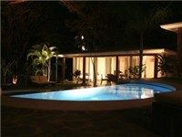 The Breeze villas by night!